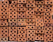 Pile de briques rouges Photos stock