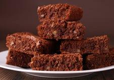 Pile de 'brownie' Image stock