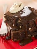 Pile de 'brownie' de chocolat Image libre de droits
