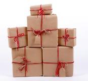 Pile de cadeaux Papier d'emballage Photos libres de droits