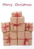 Pile de cadeaux Papier d'emballage Images stock