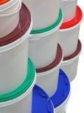 Pile de cadres colorés ronds d'isolement, Image libre de droits