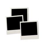 Pile de cadres instantanés de photo, d'isolement sur le blanc Photographie stock