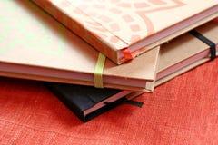 Pile de cahiers Photographie stock