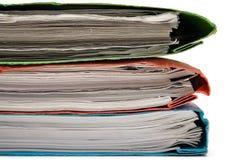 Pile de cahiers colorés Image stock