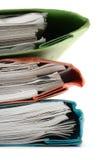 Pile de cahiers colorés (proches) Photographie stock
