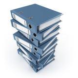 Pile de cahiers de boucle bleus Photographie stock libre de droits