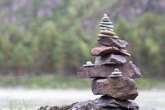 Pile de cailloux Photo libre de droits