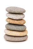 Pile de cailloux d'isolement Image stock