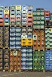 Pile de caisses de boisson Photos stock