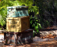 Pile de caisses de cargaison Image libre de droits