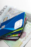 Pile de carte de crédit Photographie stock libre de droits