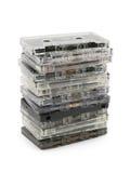 Pile de cassettes sonores Photos stock