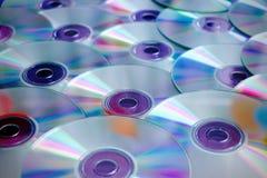 Pile de CD ou de DVD Images stock