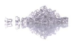 Pile de certains glace fendue Photos stock