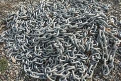 Pile de chaîne lourde Photos stock