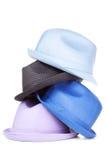 Pile de chapeaux | D'isolement Photos stock
