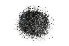 Pile de charbon de bois de carbone sur le fond blanc Photo libre de droits