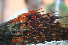 Pile de chiches-kebabs Image stock