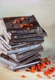 Pile de chocolat Images stock