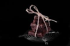 Pile de chocolat noir de pore Photo stock