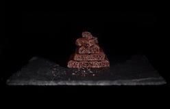 Pile de chocolat noir de pore Photographie stock