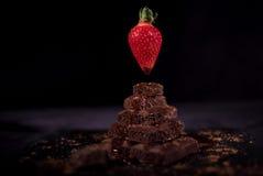 Pile de chocolat noir de pore Photos libres de droits