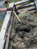 Pile de compost Photographie stock libre de droits