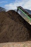 Pile de compost de large échelle Images libres de droits