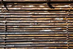 Pile de conseils en bois Images libres de droits