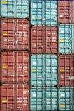 Pile de conteneur Photographie stock libre de droits