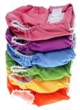 Pile de couches-culottes amicales de tissu d'Eco Photographie stock
