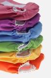 Pile de couches-culottes amicales de tissu d'Eco Photos stock