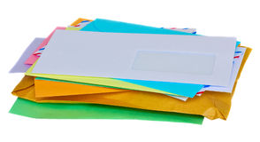 Pile de courrier Photographie stock