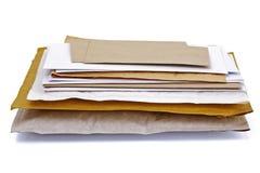 Pile de courrier photo libre de droits