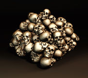 Pile de crânes humains Image libre de droits