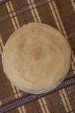 Pile de crêpes Photos stock