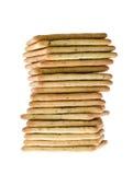 Pile de craker de beurre d'arachide Image libre de droits