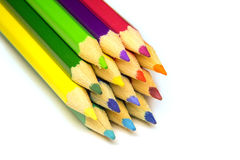 Pile de crayon coloré Image libre de droits
