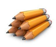 Pile de crayon graphisme 3D Photographie stock libre de droits