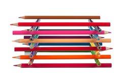 Pile de crayons Photo libre de droits