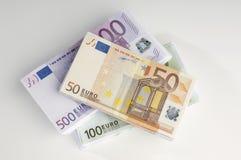 Pile de devise européenne Photographie stock