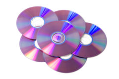 Pile de disques blanc de dvd Images libres de droits