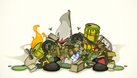 Pile de divers déchets illustration de vecteur