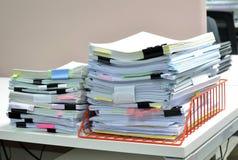 Pile de documents Images libres de droits