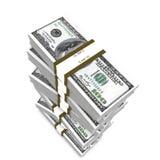 Pile de dollars Photo libre de droits