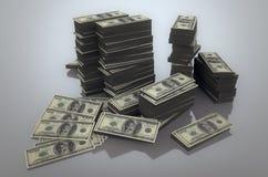 Pile de dollars Image stock