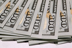 Pile de dollars Photo stock