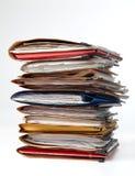 Pile de dossiers Photo stock