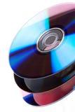 Pile de DVD Images stock